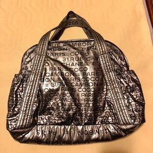 💯Authentic Chanel Metallic Gray Rue Cambon Bag
